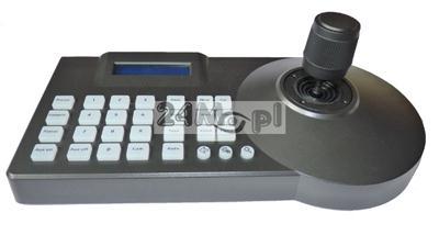 Klawiatura sterująca do kamer PTZ AHD 1.3 MPX [HD] i 2.0 MPX [FULL HD], obsługa również kamer analogowych, kompatybilność z protokołami PELCO_D i PELCO_P, tryb 3D, wyświetlacz LCD