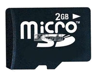 Karta SD micro o pojemności 2GB do minirejestratorów