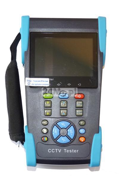 Monitor serwisowy 3,5 do kamer analogowych i AHD (stacjonarnych i obrotowych), funkcja testera przewodów sieciowych i zasilania PoE, PING-owania urządzeń w sieci, skanowania adresów IP, wbudowana lat