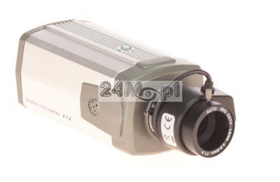 Wewnętrzna kamera kompaktowa z mikrofonem - 1/3 CCD SONY EFFIO, 700 TVL, regulowany obiektyw 3,5 - 8 mm GRATIS