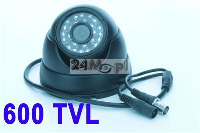 Wewnętrzna kamera kopułkowa - 600 linii, 24 diody podczerwieni, estetyczna obudowa