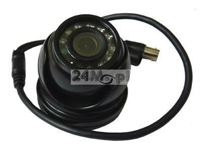Zgrabna, kopułkowa kamera zewnętrzna o doskonałej jakości - 1000 linii, 12 diod IR, szeroki kąt widzenia