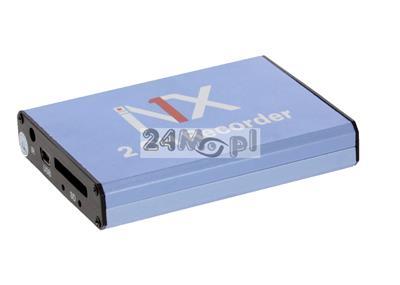 MIKRO rejestrator na karty SD [do 128 GB] - obsługa dwóch kamer, zapis ciągły lub w detekcji ruchu, 30 klatek/sekundę