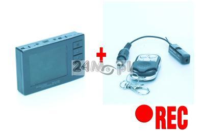 Zestaw szpiegowski - miniaturowa kamera bezprzewodowa z wyświetlaczem LCD