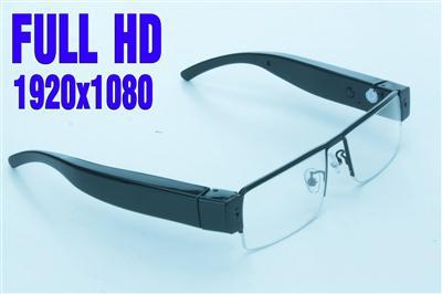 Mikrokamera ukryta w okularach - rozdzielczość FULL HD, AUDIO