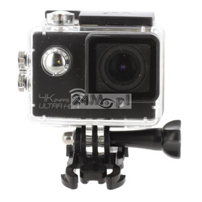 Kamera sportowa 4K [Ultra HD] - zapis z prędkością do 120 klatek / sekundę, kąt widzenia 170 stopni, wbudowany mikrofon, wodoszczelna obudowa, zestaw akcesoriów