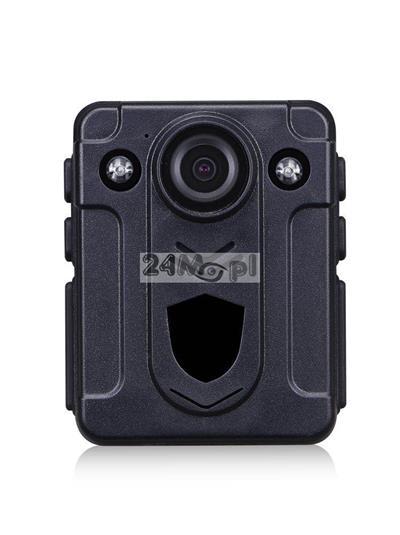 Nasobna kamera dla komorników i służ mundurowych - FULL HD, szeroki kąt widzenia, wbudowany akumulator, prosta obsługa i wygodne mocowanie
