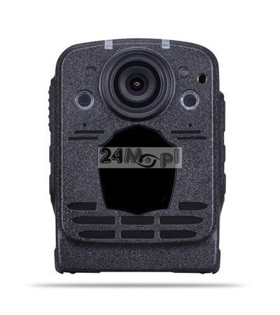 Kamera nasobna dla komorników i służb mundurowych - rozdzielczość FULL HD, szeroki kąt widzenia, podczerwień, wyświetlacz LCD, pamięć 16 GB