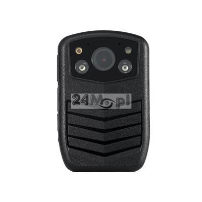 Kamera nasobna z wbudowanym rejestratorem (16 GB)  dla komorników i służb mundurowych - rozdzielczość FULL HD, praca dzień / noc (diody IR), szeroki kąt widzenia (140 stopni), mikrofon