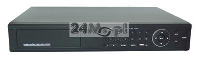 24-kanałowy rejestrator do monitoringu - model 5 w 1, obsługa kamer AHD, IP, CVI, TVI i CVBS (analogowych), rozdzielczość FULL HD, 4 dyski twarde SATA