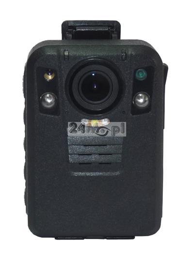 Personalna kamera nasobna z wbudowanymi modułami GPS i GSM - podgląd zdalny materiału video i pozycji GPS, rozdzielczość 4 MPX (2688 x 1512), FULL HD i niższe, wbudowany mikrofon i głośnik, diody IR L