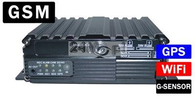 4 - kanałowy rejestrator mobilny do monitoringu mobilnego z modułami GPS, GSM i WiFi - profesjonalne narzędzie nadzoru nad flotą i pojazdami specjalistycznymi (śmieciarki, koparki, autobusy)