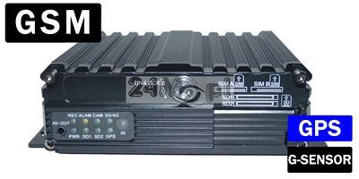 4 - kanałowy rejestrator mobilny do monitoringu pojazdów osobowych, ciężarowych i specjalistycznych - podgląd materiału video i GPS ONLINE w czasie rzeczywistym