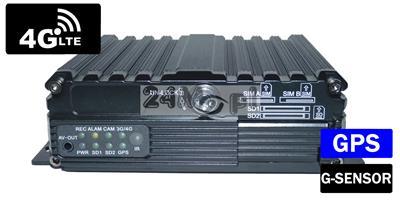 4 - kanałowy rejestrator mobilny 4G LTE do monitoringu pojazdów osobowych, ciężarowych i specjalistycznych - podgląd materiału video i GPS ONLINE w czasie rzeczywistym