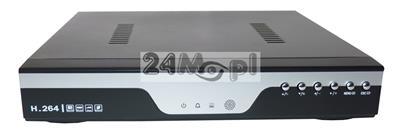4 - kanałowy rejestrator do kamer AHD i analogowych - obsługa rozdzielczości FULL HD [1080P], polskie MENU, współpracuje ze stałym i zmiennym adresem IP, praca w chmurze [P2P]