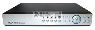 8 - kanałowy rejestrator cyfrowy do kamer, kompatybilność z systemami AHD, CVI, TVI i CVBS, dostępne tryby hybrydowe, polskie MENU, dostęp zdalny przez telefony i tablety, P2P