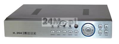 8 - kanałowy rejestrator hybrydowy do kamer AHD, IP i analogowych - obsługa rozdzielczości do 5 MPX, płynny ruch, nowoczesna kompresja H.264, pełny dostęp zdalny przez telefony komórkowe i tablety