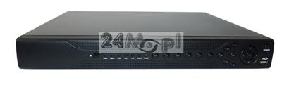 16 - kanałowy rejestrator hybrydowy do kamer AHD, IP i analogowych, obsługa rozdzielczości FULL HD [1080P], dostęp zdalny przez telefony i tablety oparte o system Android i Apple iOS [iPhone/iPad]