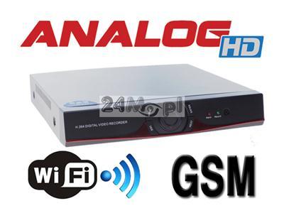 16 - kanałowy, cyfrowy rejestrator hybrydowy - obsługa innowacyjnego standardu AHD oraz innych - IP i analogowego CCTV, funkcja P2P, współpraca z Internetm mobilnym i WiFi