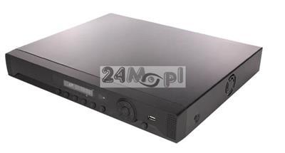 16 - kanałowy rejestrator hybrdyowy do kamer AHD, IP i analogowych - obsługa rozdzielczości do 5 MPX, płynny ruch [25 klatek / sekundę], dostęp zdalny przez komputery / telefony / tablety, wsparcie dl
