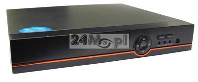 4 - kanałowy rejestrator hybrydowy - współpracuje z kamerami AHD, IP i analogowymi (CVBS), 4 wejścia video i audio, tryb REAL TIME (płynny ruch), praca w chmurze (P2P)