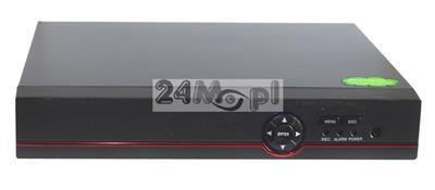 4 - kanałowy rejestrator do kamer AHD i IP - obsługa trybu 5 MPX oraz niższych [w tym FULL HD], dostępny tryb REAL TIME [płynny ruch], pełny dostęp zdalny przez Internet