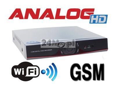 8 - kanałowy rejestrator cyfrowy do kamer Analog HD, obsługa równiez standardów IP i ANALOG CCTV, pełny dostęp zdalny przez Internet i telefony komórkowe