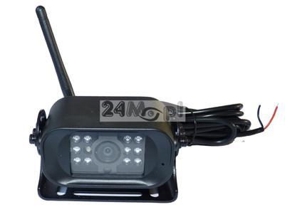Bezprzewodowa kamera do monitoringu pojazdów - idealna do zastosowań jako kamera cofania, 12/24V [do samochodów osobowych i ciężarowych], 11 diod IR, szeroki kąt widzenia