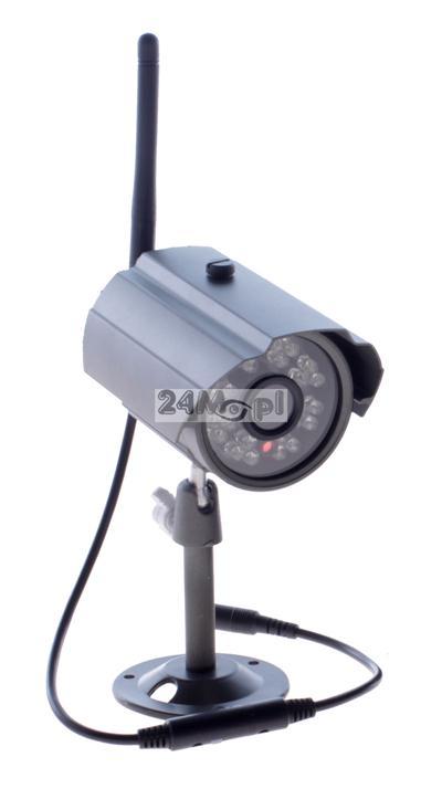 Zewnętrzna, BEZPRZEWODOWA kamera HD - 1280 x 720, 24 diody podczerwieni, szeroki kąt widzenia, szczelna obudowa