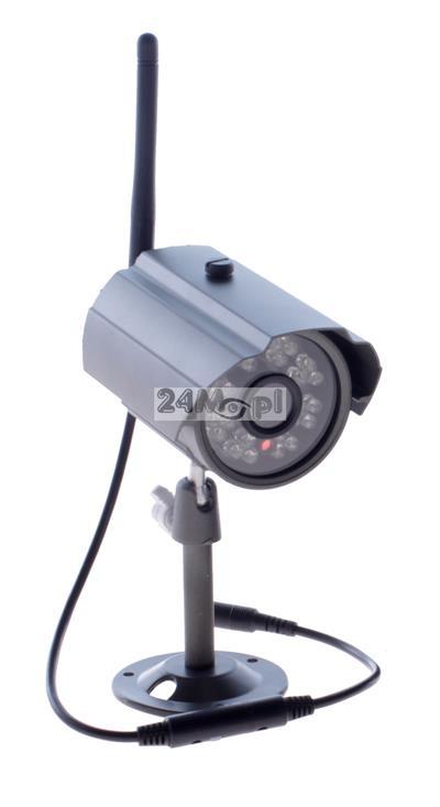 Zewnętrzna kamera bezprzewodowa FULL HD [2 MPX - 1080P] - zasięg do 200 metrów, 24 diody podczerwieni, szeroki kąt widzenia, obudowa odporna na warunki atmosferyczne [IP66]