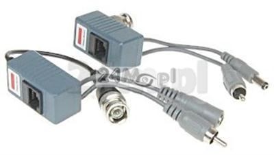 12:56 Transmiter video+audio+zasilanie po skrętce [para nad.+odb.]