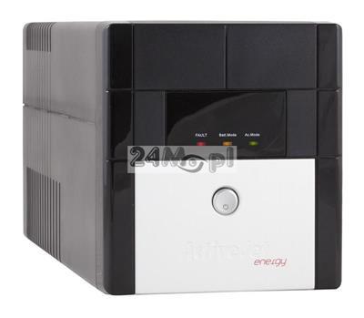 Zasilacz awaryjny UPS o mocy 1100VA przeznaczony do systemów monitoringu wizyjnego