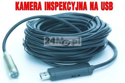 Kamera endoskopowa/inspekcyjna na USB, 4 diody IR LED, IP 67