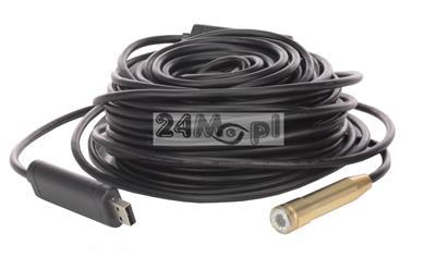 Kamera endoskopowa [inspekcyjna] na USB - 15-metrowy przewód, IP67, diody LED, oprogramowanie GRATIS