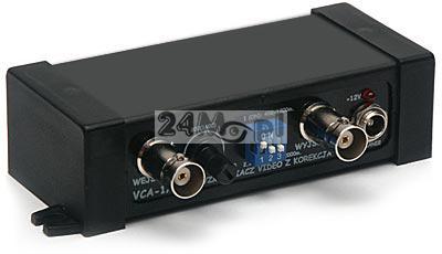 Wzmacniacz sygnału wideo do kamer przemysłowych - przesył wizji kablem koncentrycznym na odległość 2000 metrów